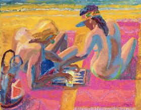 Backgammon II, 2005 (oil on board)