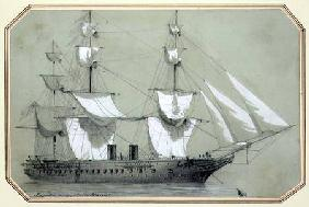 The 'Warrior', the first British iron warship