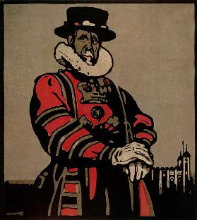Beefeater from London Types published by William Heinemann, 1898