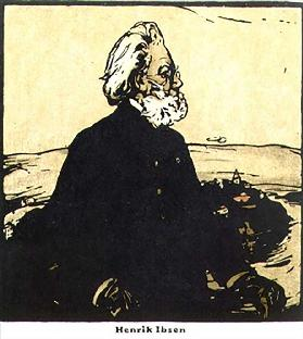Henrik Ibsen, from Twelve Portraits - Second Series, first published by William Heinemann, 1902
