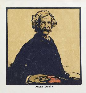 Mark Twain, from Twelve Portraits - Second Series, first published by William Heinemann, 1902
