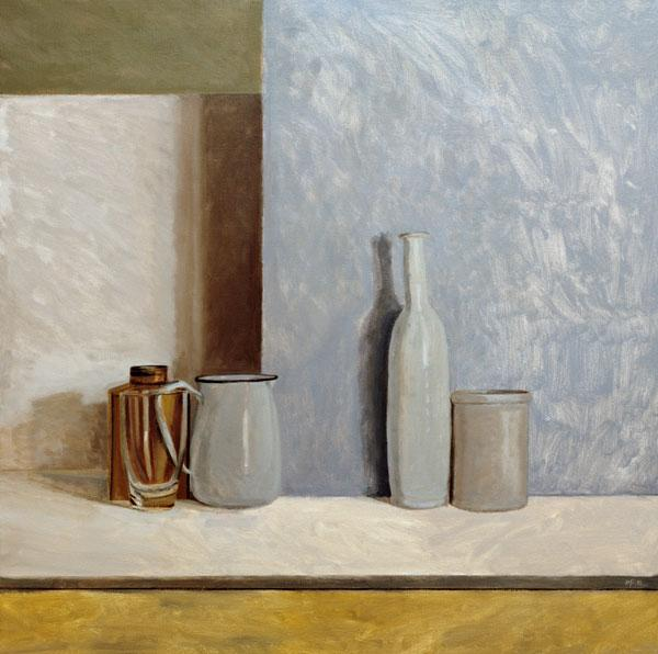 Pale Grey and Blue (oil on canvas)