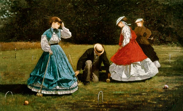 Croquet Scene Winslow Homer As Art Print Or Hand Painted
