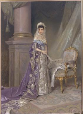 Portrait of Empress Maria Feodorovna, Princess Dagmar of Denmark (1847-1928)