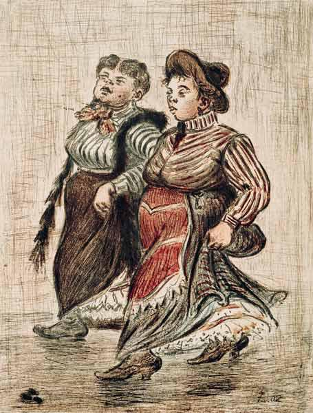 H.Zille / Two street girls / 1902