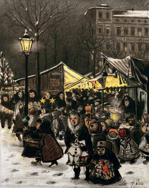 Weihnachtsmarkt H.H Zille Weihnachtsmarkt Am Arkonaplatz Heinrich Zille As Art